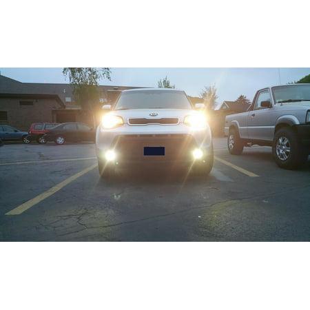 2014-2017 Kia Soul Halo Angel Eye Fog Lamps Lights Kit