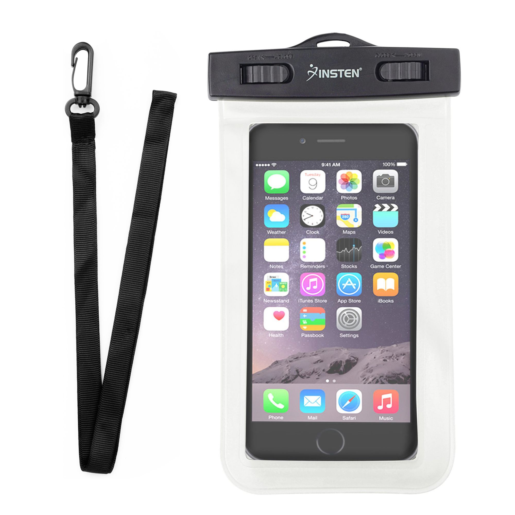 new concept 3238f 83858 Insten Waterproof Phone Case Pouch Bag Carrying Case Pouch with Lanyard &  Armband for iPhone X XS XS Max XR 7 8 Plus 6s Samsung Galaxy S10 S10e S9  S9+ ...