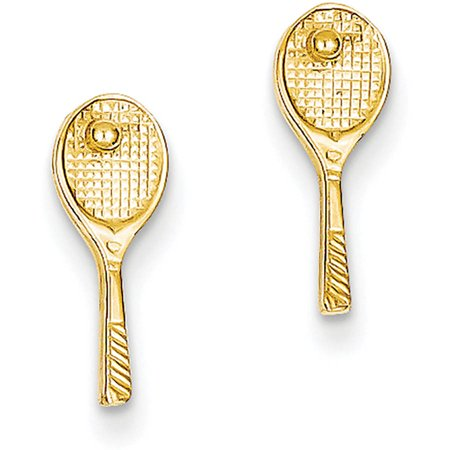 14k Mini Tennis Racquet with Ball Post (Mini Tennis Posts)