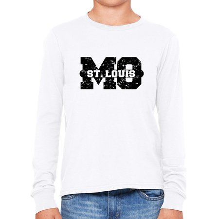 St. Louis, Missouri MO Classic City State Sign Boy's Long Sleeve T-Shirt (Costumes St Louis Mo)
