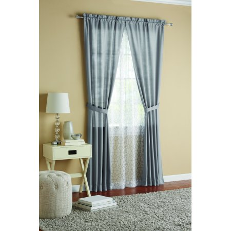 Match Two Piece (Mainstays Luna Curtain Panel, 4 Piece)