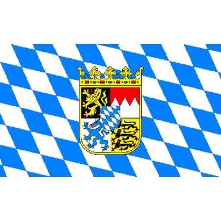 3x5 Bavarian Crest Bavaria Germany Flag German Oktoberfest Octoberfest (Bavaria Flag)