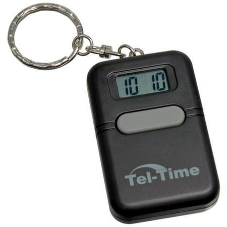 Tel-Time Talking Key Chain Square -Black (Talking Parrot Keychain)