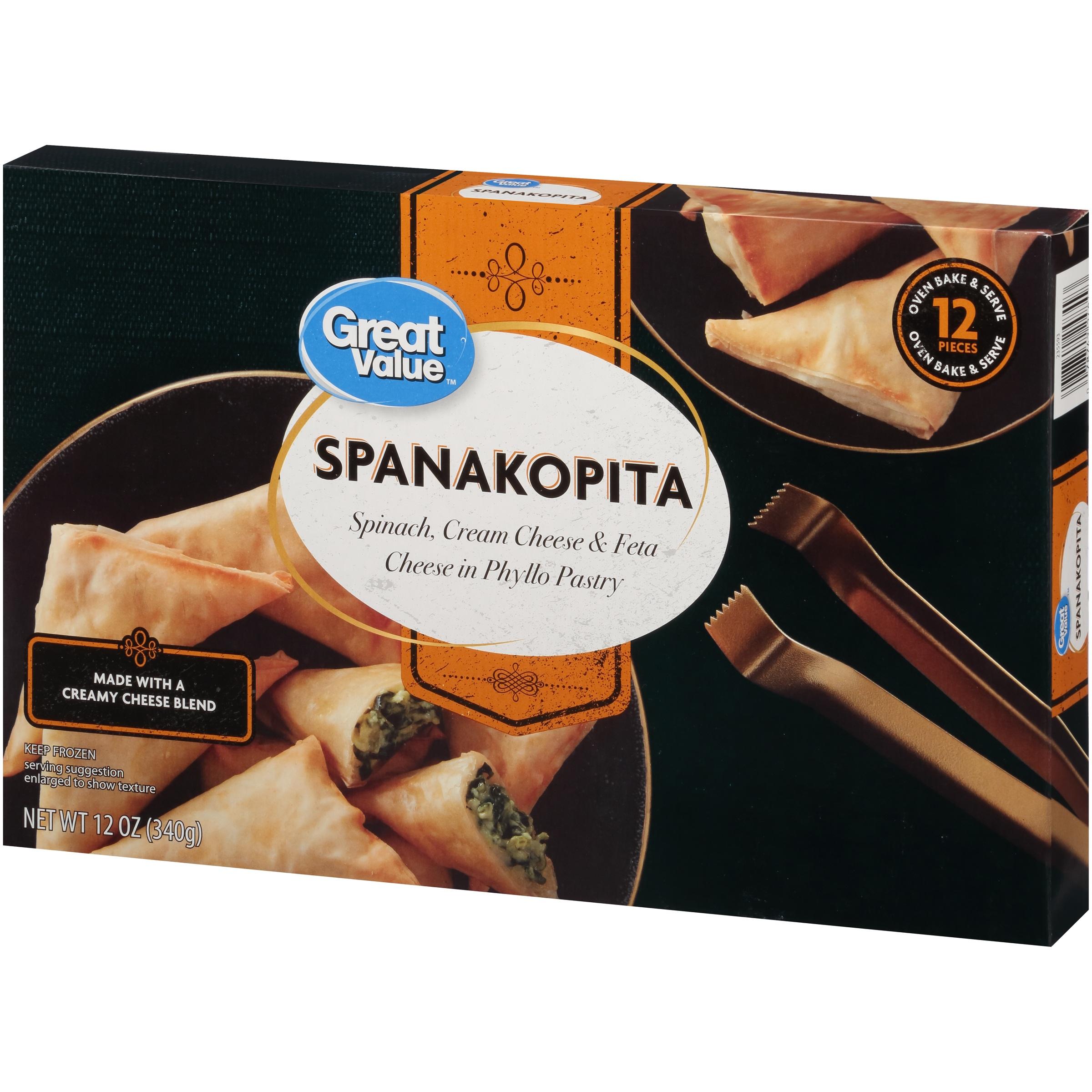 Great Value Frozen Spanakopita, 12 oz, 12 Count