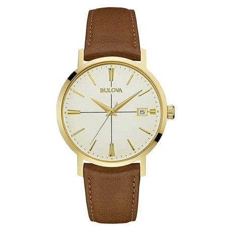Bulova Men's Aerojet Leather Watch 97B151