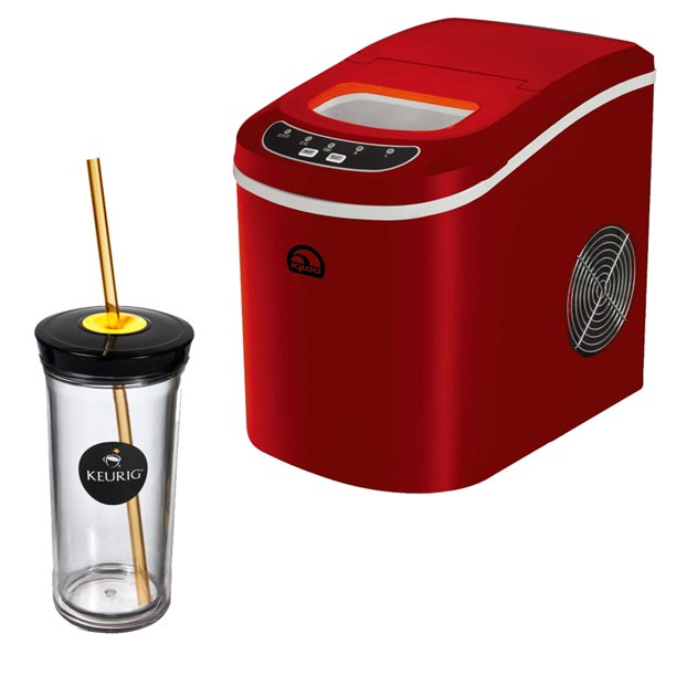 Igloo Compact Ice Maker (Red) with Keurig Iced Beverage ...