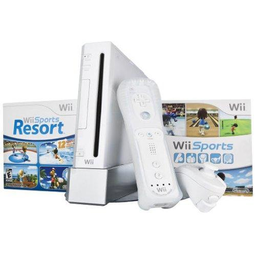 Nintendo Wii Bundle with Wii Sports & Wii Sports Resort - White
