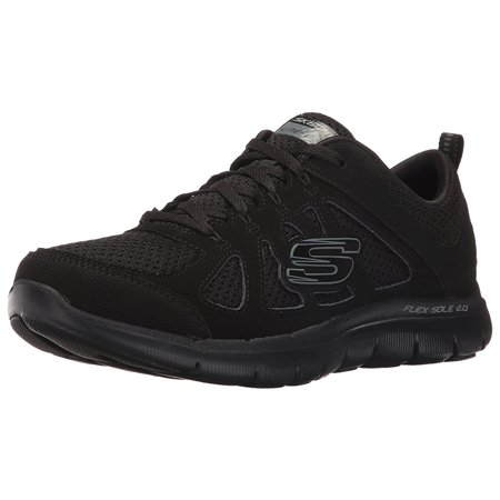 Skechers Sport Women's Flex Appeal 2.0 Simplistic Fashion Sneaker, Black, 8.5 C (Best Nursing Shoes Skechers)