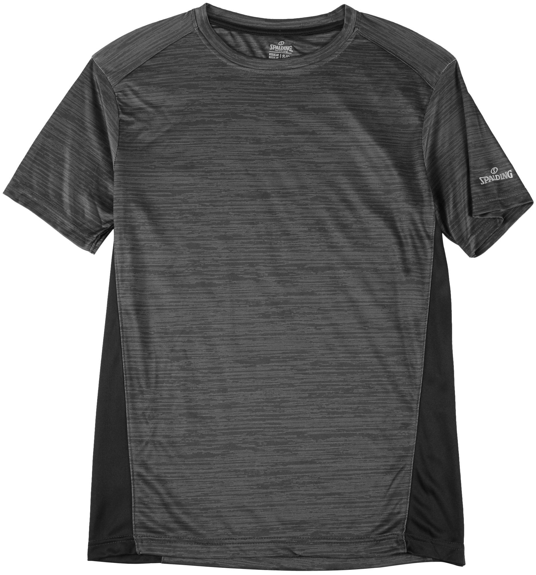 Primavera//Verano Color Grau Melange//Schwarz Spalding Street Camiseta de Tiempo Libre Unisex tama/ño Large
