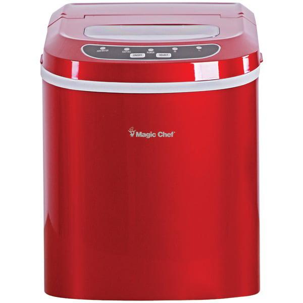 Magic Chef Portable Countertop Ice Maker, Red