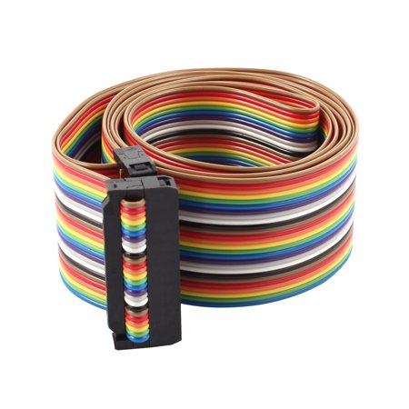 2.54mm Pitch 4.2Ft 26 Pin F/F IDC Flat Ribbon Cable Line Connector Multicolor