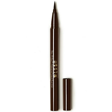 Stila Stay All Day Waterproof Liquid Eye Liner, Dark Brown, 0.01 (Best Eyeliner For Cat Eye Look)