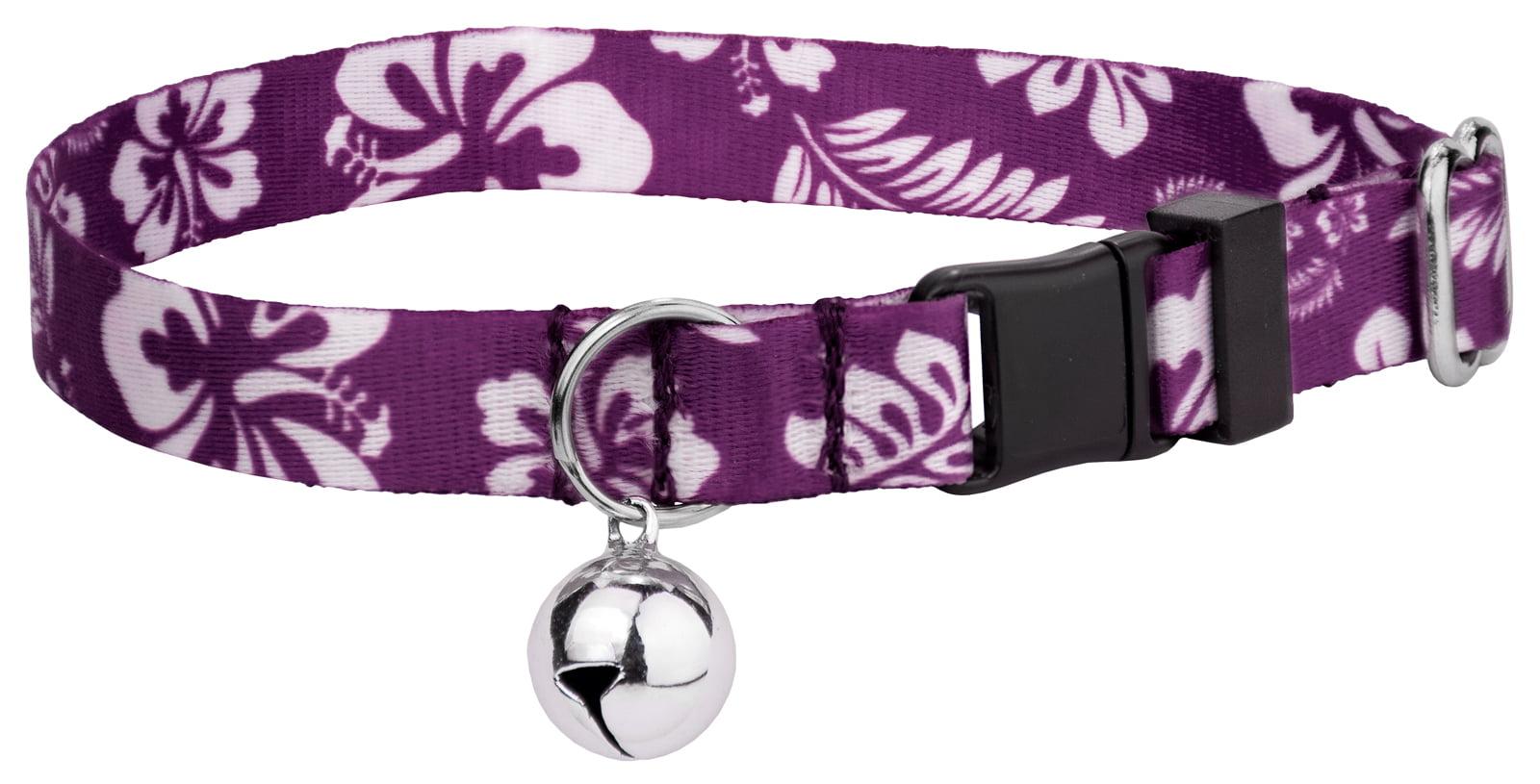 Country Brook Petz | Purple Hawaiian Cat Collar by Country Brook Design
