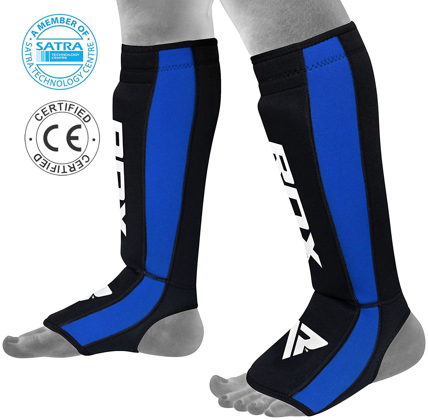 RDX Neoprene Shin Instep Pads MMA Leg Foot Guards Kick Protector Muay Thai