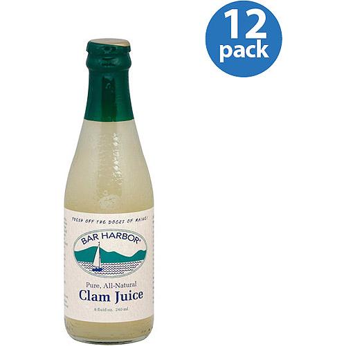 Bar Harbor Clam Juice, 8 fl oz Soup, (Pack of 12)