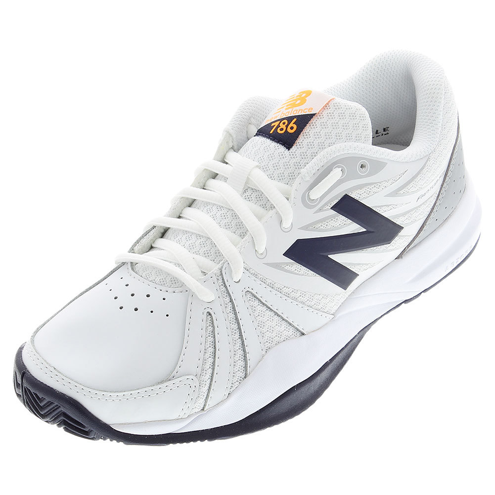 Women`s 786v2 2A Width Tennis Shoes White and Blue