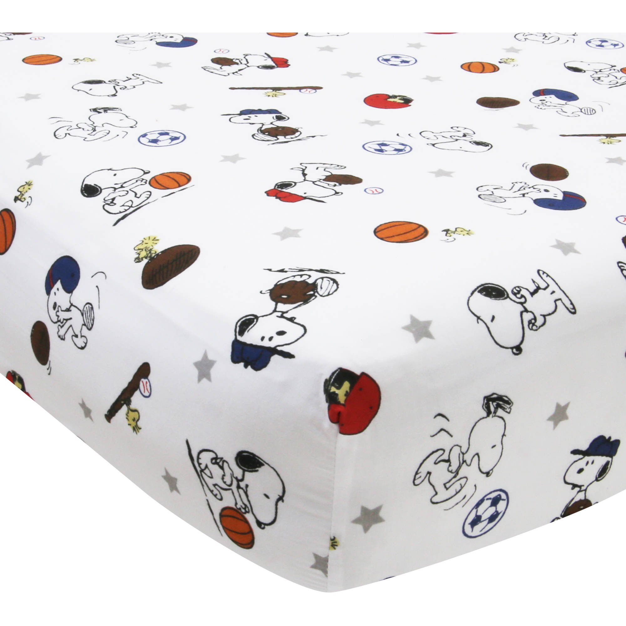 Bedtime Originals Snoopy Sports Crib Sheet