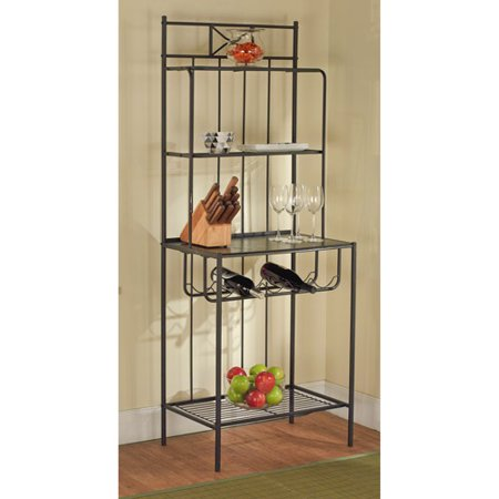 Baker 39 s rack black for Affordable furniture in baker