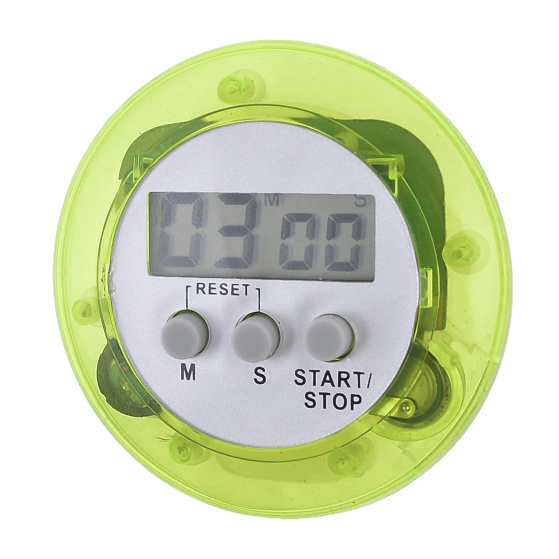 Cooking Rounded Plastic Shell Housing LCD Digital Electronic Count Down up Timer