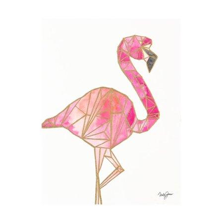 Origami Flamingo Print Wall Art By Nola (James S Flamingo)