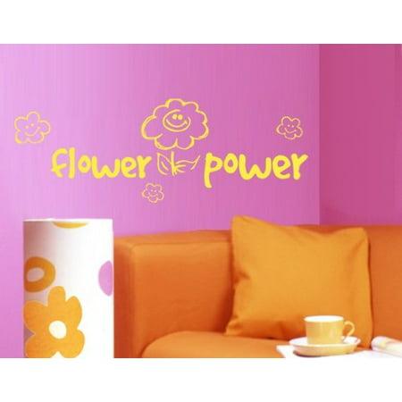 Flower Power Wall Decal wall decal sticker mural vinyl art home decor