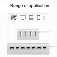 ZEDWELL 7-Port Usb2.0/3-Port 3.0Hub High-Speed Hub Card Readers Cell Phones High-Resolution Cameras Digital Video Cameras