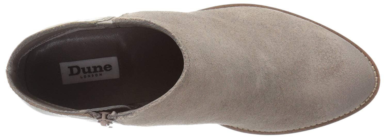 Dune London Women's Penelope Boot, Grey Suede, Size 8.0