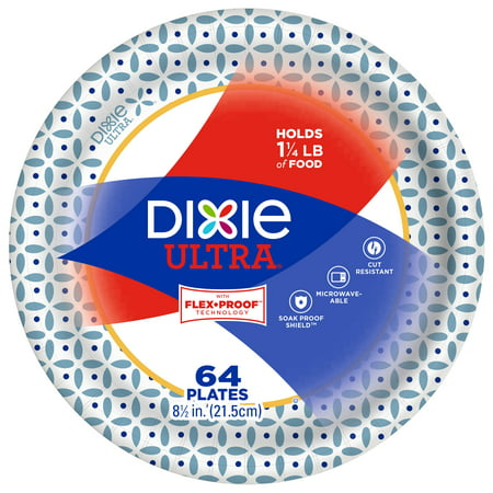 (2 pack) Dixie Ultra Paper Lunch Plates, 8.5