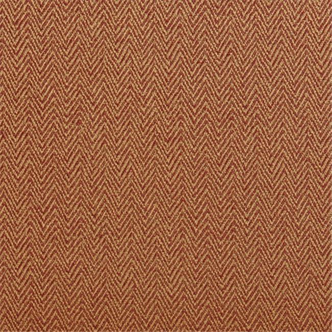 Designer Fabrics K0220F 54 in. Wide Orange And Gold Small Herringbone Chevron Upholstery Fabric