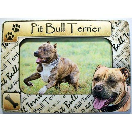 Pit Bull Terrier Dog Breed Picture Frame Fridge Magnet