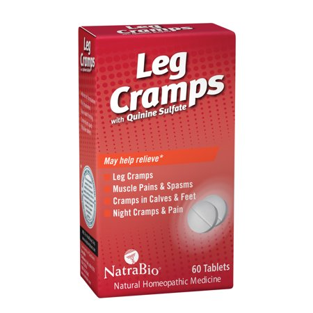 NatraBio Leg Cramps w/ Quinine Sulfate | Homeopathic Formula for Temporary Relief of Leg, Calf & Foot Cramps, Muscle Spasms & Pain | 60 Tablets