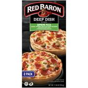 Red Baron Singles Deep Dish Supreme Pizzas, 11.50 oz, 2 Count