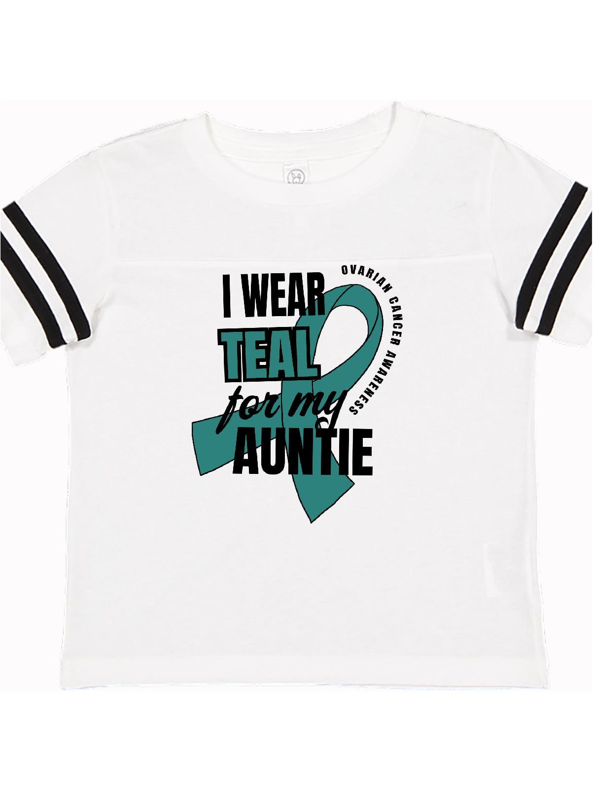 I Wear Teal For My Auntie Ovarian Cancer Awareness Toddler T Shirt Walmart Com Walmart Com