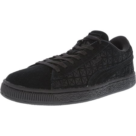 hot sale online 0186c ba128 Puma Suede On Black Ankle-High Fashion Sneaker - 6M ...