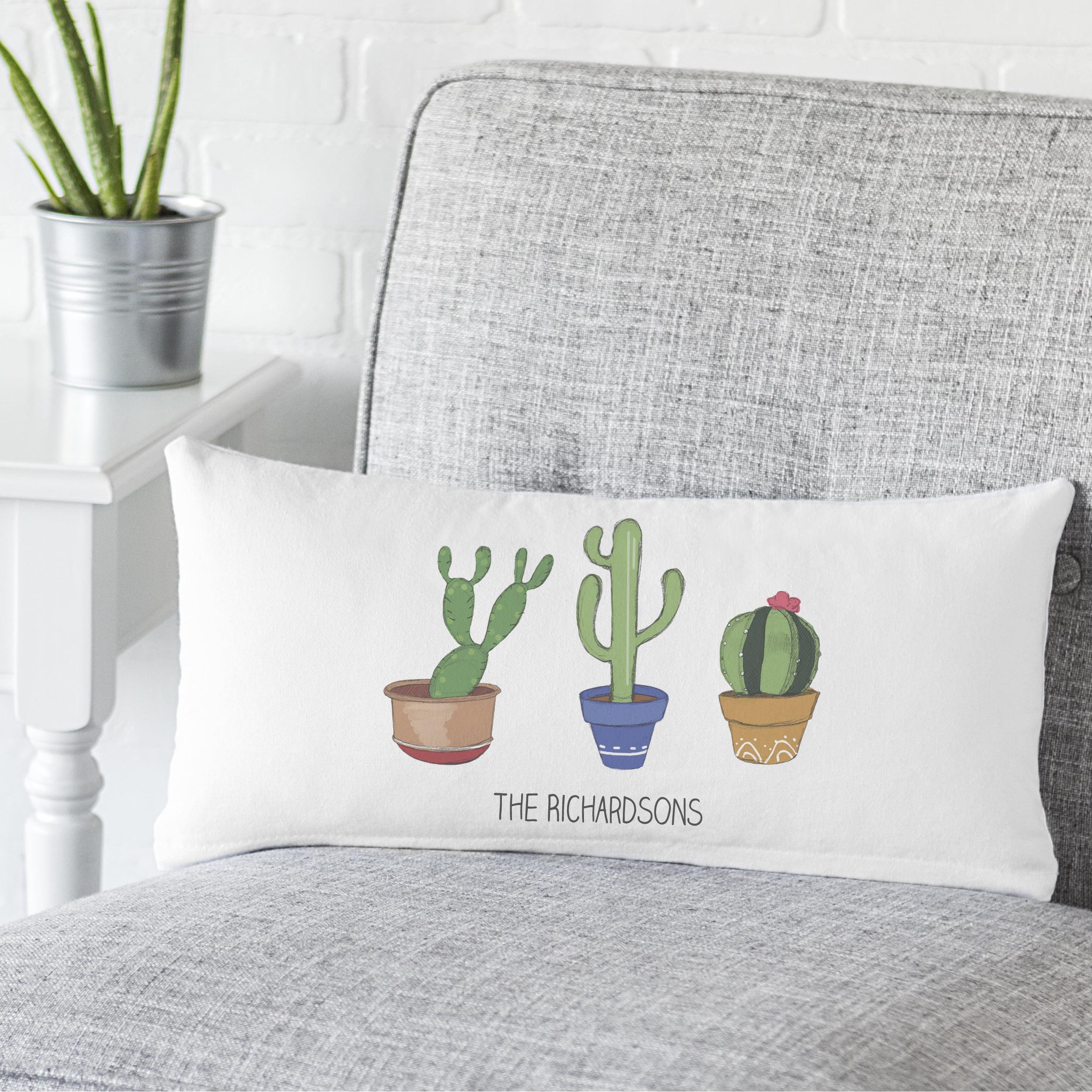 Personalized Cactus Lumbar Pillow