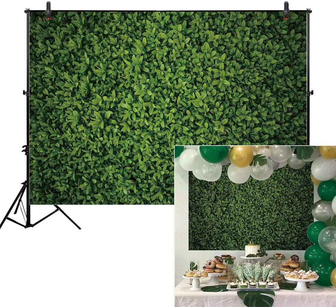 AIIKES 7X5FT Green Floral Leaves Backdrop Still Life Grass Leaf Pictures Background Summer Spring Jungle Party Home Decor Outdoorsy Theme Shoot Props Drop 11-886