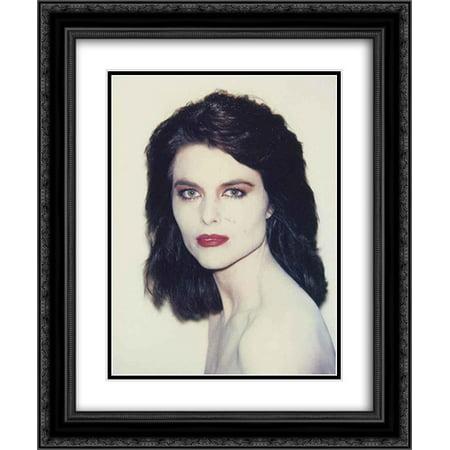 Andy Warhol 2X Matted 20X24 Black Ornate Framed Art Print Maria Shriver