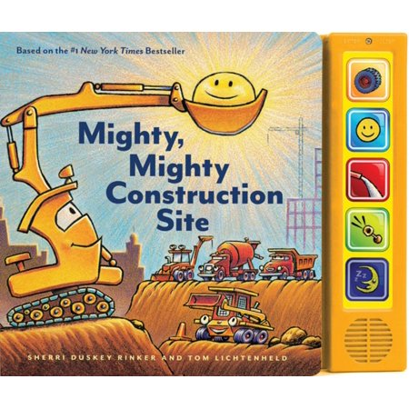Mighty, Mighty Construction Site Sound Book (Books for 1 Year Olds, Interactive Sound Book, Construction Sound