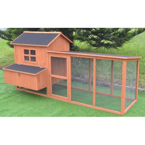 7.2' Chicken Coop Running Cage Backyard Poultry Hen House