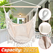 Camping Hammock Swing Chair Garden Hanging Chair Travel For Child Adult 120kg Capacity