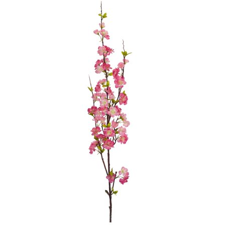 "Set of 12 Pink Apple Blossom Spray 50.5"""