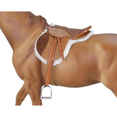 Traditional Devon Hunt Seat Saddle Horse Toy Accessory, A Traditional accessory item. By Breyer