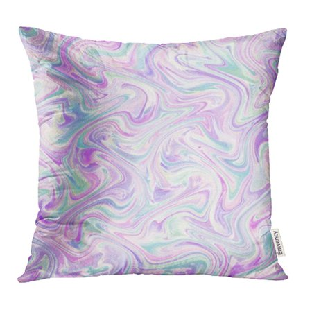 YWOTA Colorful Abstract Watercolor Marble Silk White Pink Lilac Purple Lavender Mint Green Pillow Cases Cushion Cover 20x20 (Indian Green Marble)