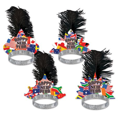Club Pack Of 50 International   Happy New Years   Legacy Party Favor Tiaras