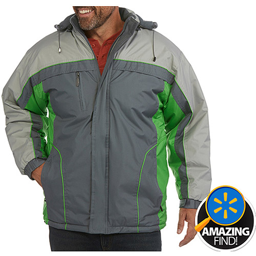 Climate Concepts Men's Fleece Lined Jacket with Removable Hood by