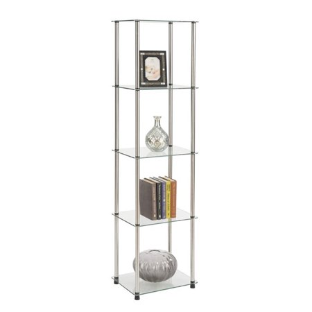 Pemberly Row 4 Shelf Glass Tower