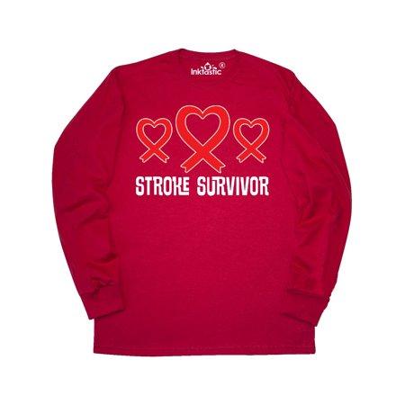 Stroke Survivor Awareness Heart Ribbon Long Sleeve