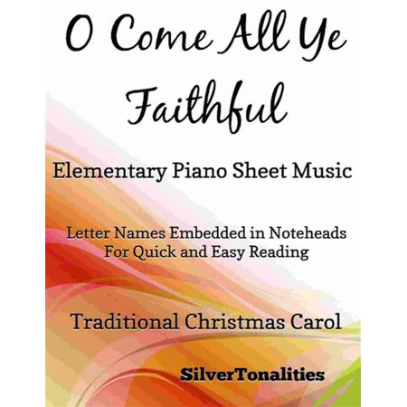 O Come All Ye Faithful Elementary Piano Sheet Music - eBook (This Is Halloween Sheet Music Piano)