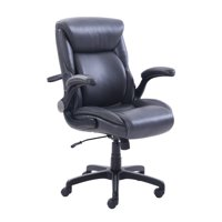 Serta Air Lumbar Bonded Leather Manager Office Chair, Gray