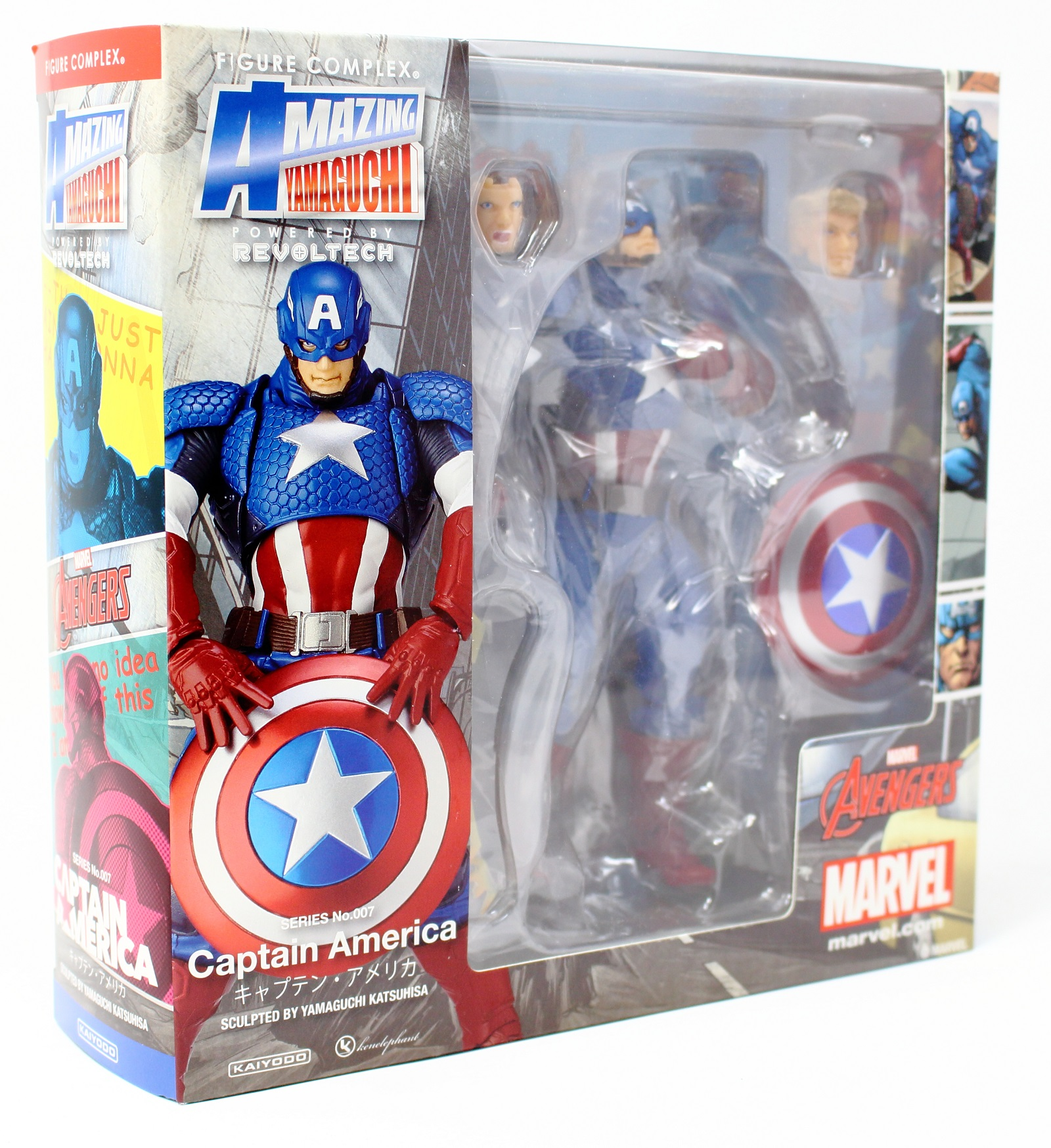 New US Revoltech No 007 Captain America Amazing Yamaguchi Marvel Avengers